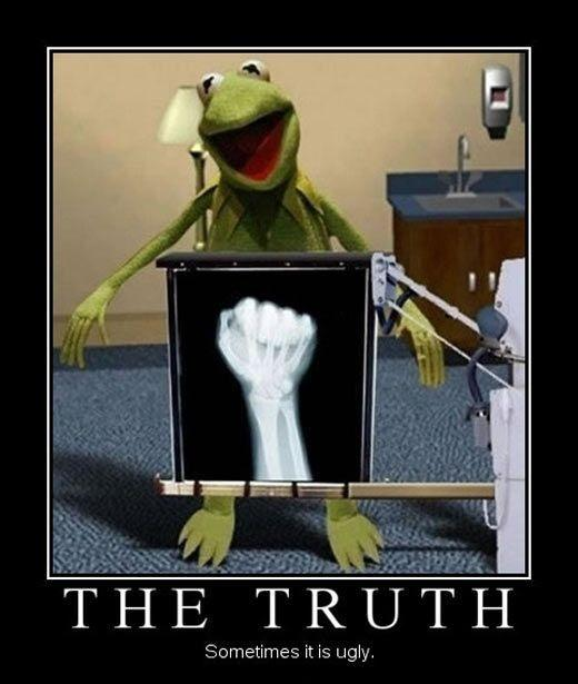 The truth. Sometimes it is ugly Picture Quote #1
