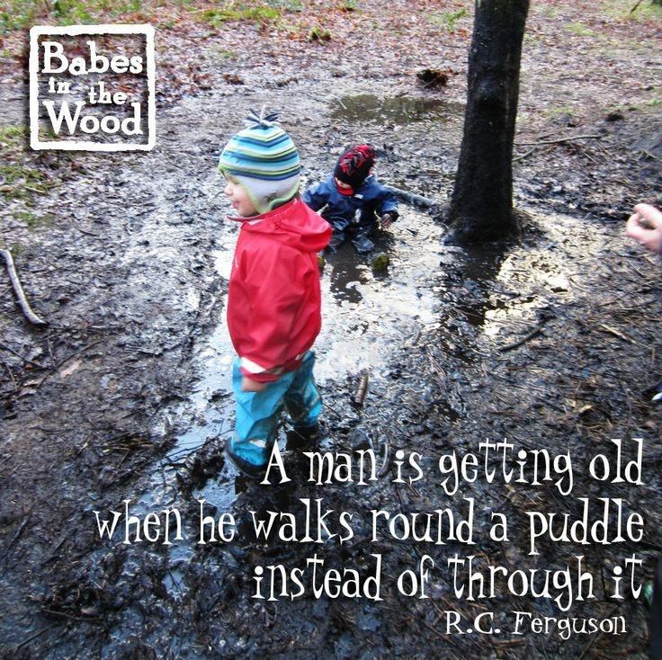 A man is getting old when he walks around a puddle instead of through it Picture Quote #2