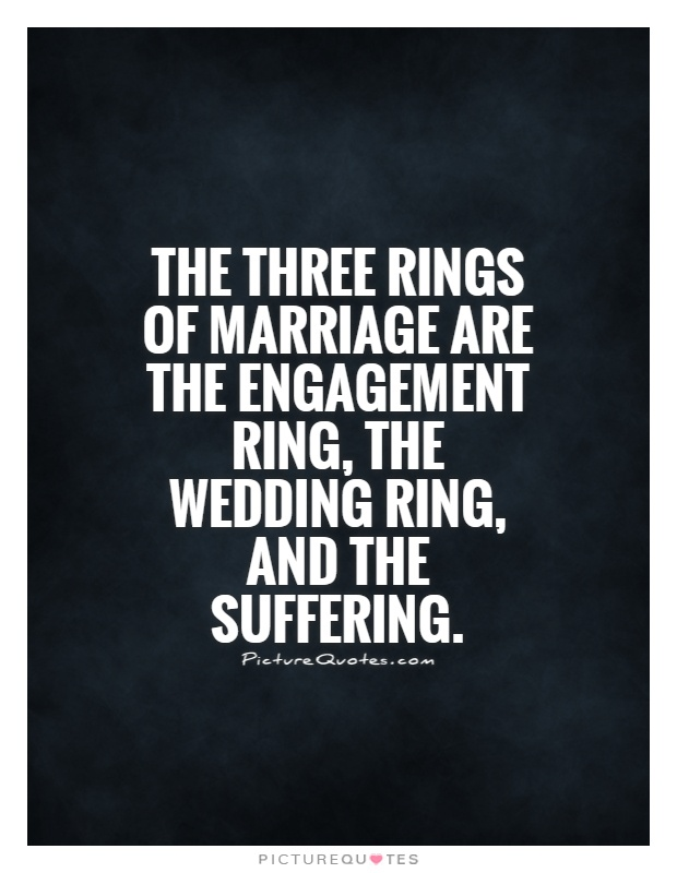 The three rings of marriage are the engagement ring the wedding
