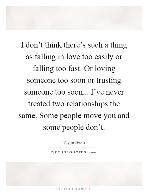Falling in love too easily