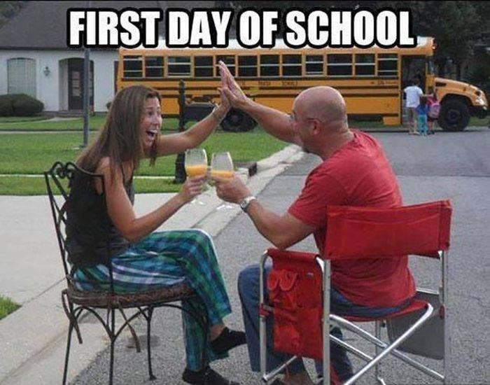 First day of school Picture Quote #1
