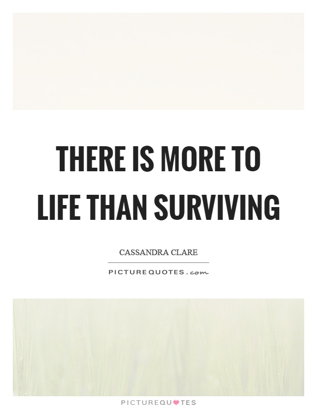There is more to life than surviving Picture Quote #1