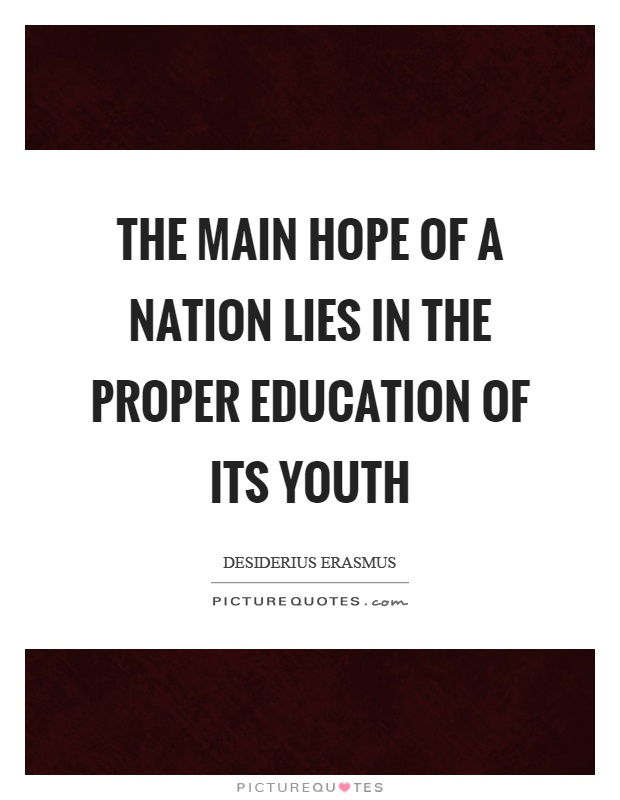 youth is the hope of the nation essay
