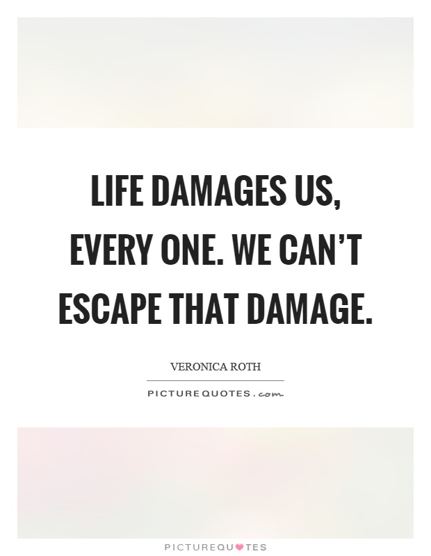 Life damages us, every one. We can't escape that damage Picture Quote #1