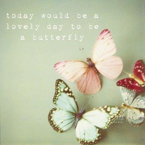 Today would be a lovely day to be a butterfly Picture Quote #1