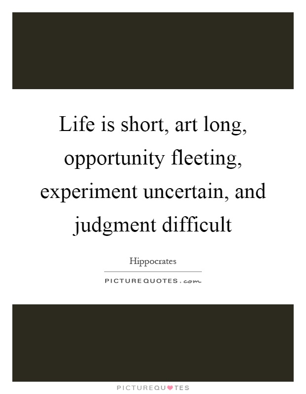 life is short essay