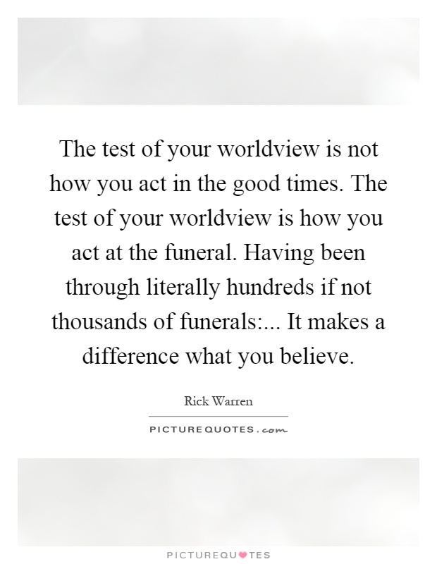 What Defines Your Worldview? Essay