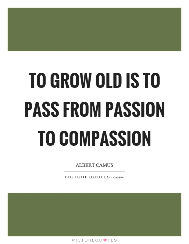 To grow old is to pass from passion to compassion Picture Quote #1