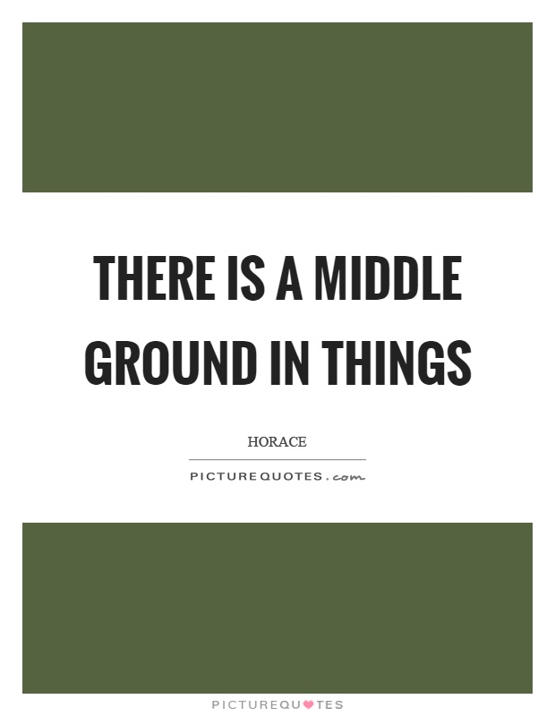 There is a middle ground in things Picture Quote #1