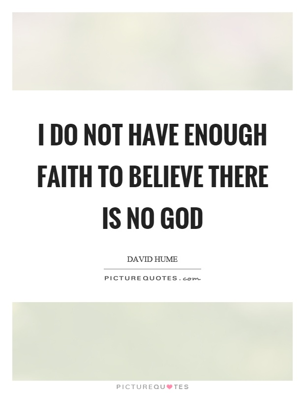 I do not have enough faith to believe there is no god Picture Quote #1