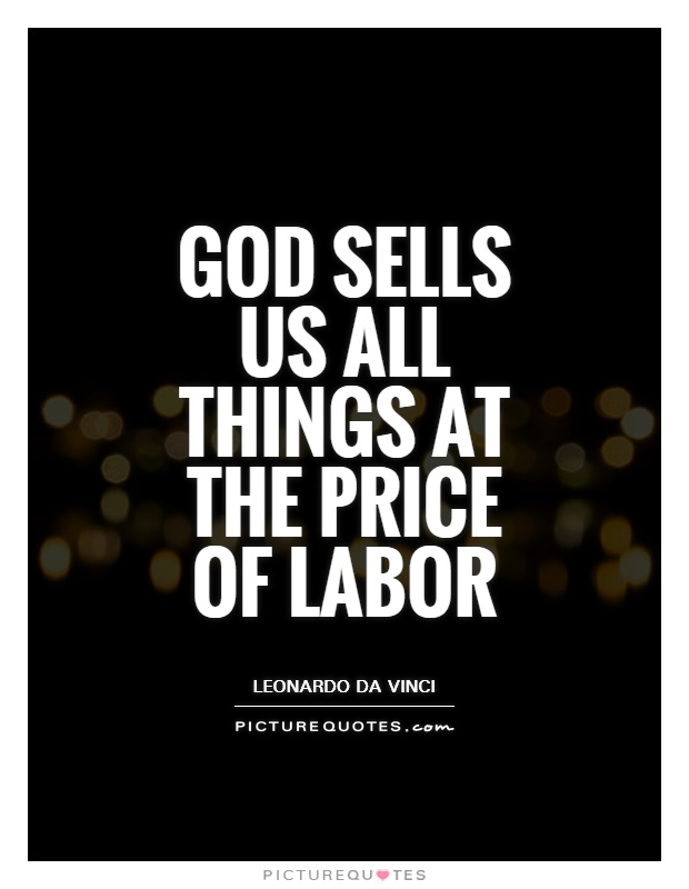 God sells us all things at the price of labor Picture Quote #1
