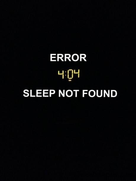 Error 404 sleep not found Picture Quote #1