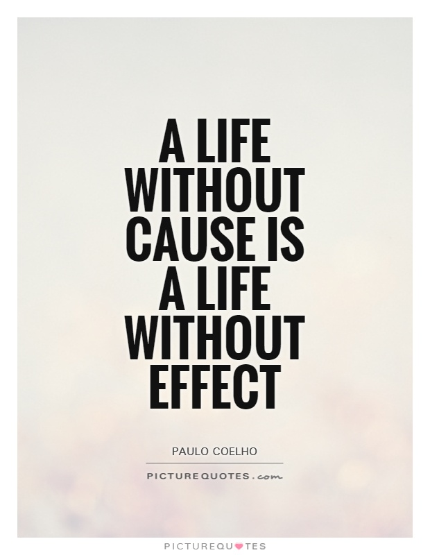 A life without cause is a life without effect Picture Quote #1