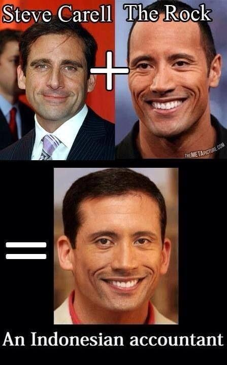 Steve Carell plus The Rock equals an Indonesian accountant Picture Quote #1