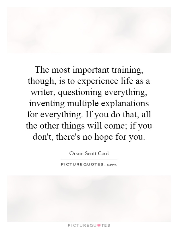 a memorable experience in life 33 moments in life that are more important than you think but too often we try to wipe these experiences from our memory without examining them it's the people in life that matter, not the places you occupy.