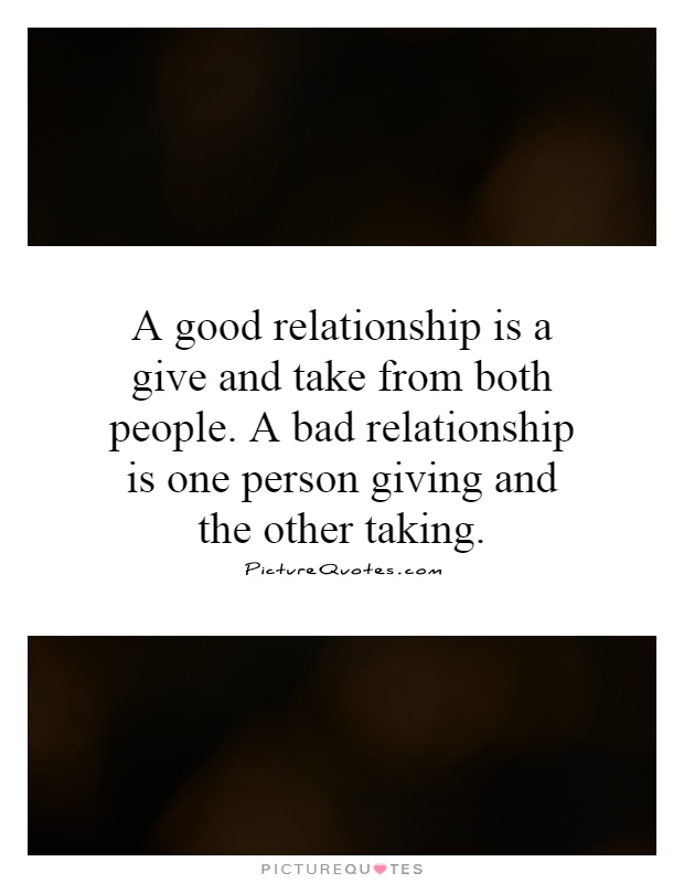 give and take relationship images