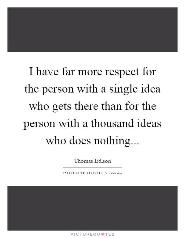 Essay on Respect