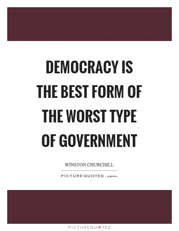 essay on democracy as a form of government