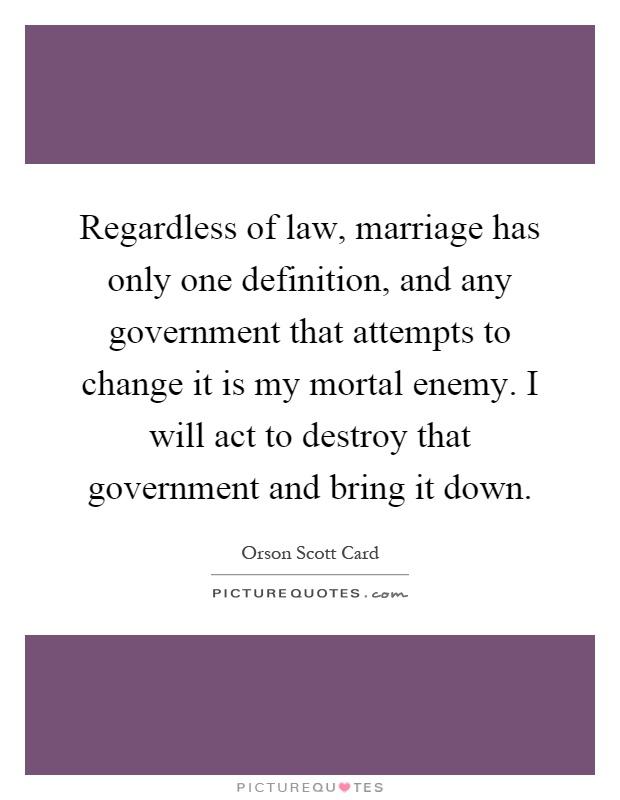 Orson scott card gay marriage essay