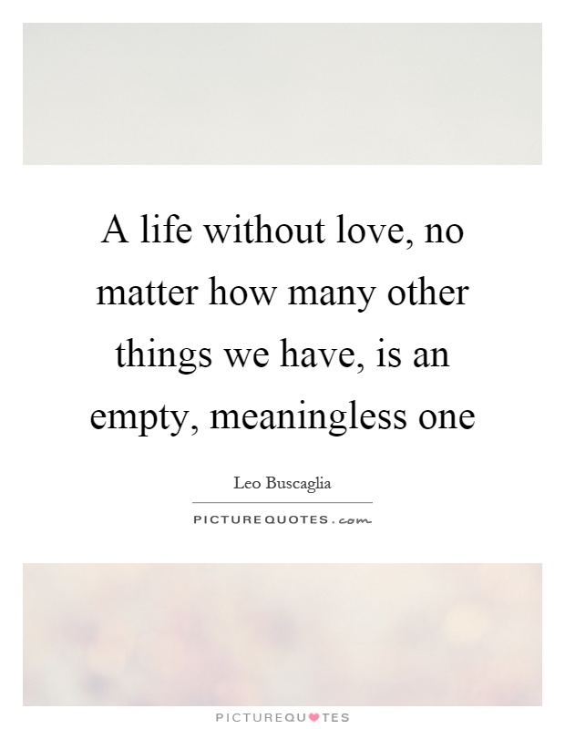 life without love quotes