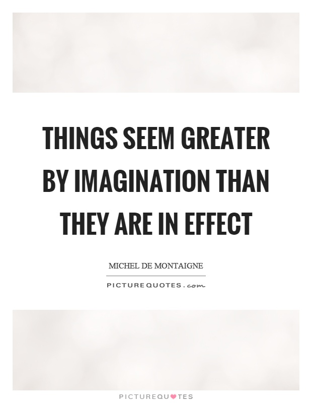 of the power of imagination by montaigne