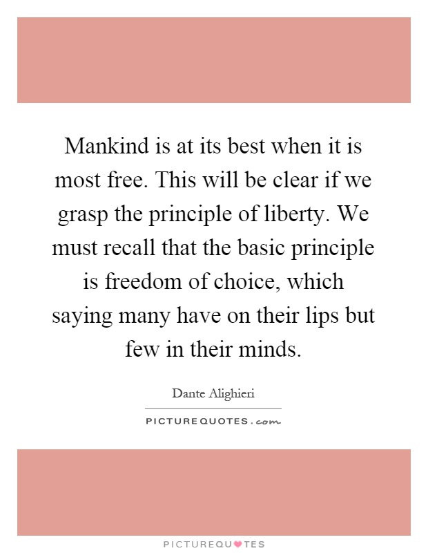 An analysis of liberty in mankind