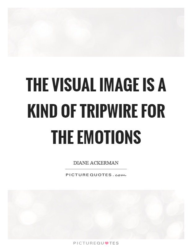 The visual image is a kind of tripwire for the emotions Picture Quote #1