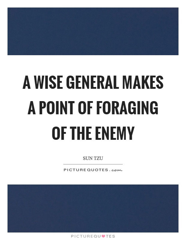 A wise general makes a point of foraging of the enemy Picture Quote #1