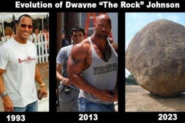 "Evolution of Dwayne ""The Rock"" Johnson. 1993. 2013. 2023 Picture Quote #1"