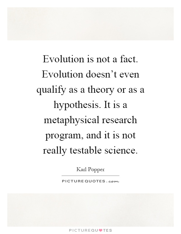 evolution a fact or theory