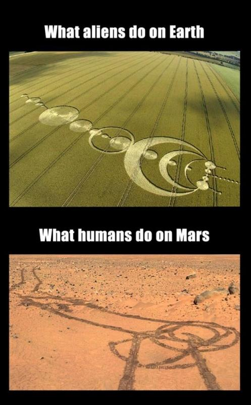 What aliens do on Earth. What humans do on Mars Picture Quote #1