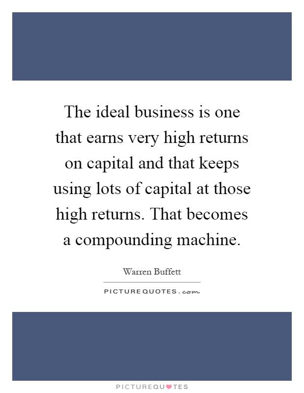 warren buffett compounding machine