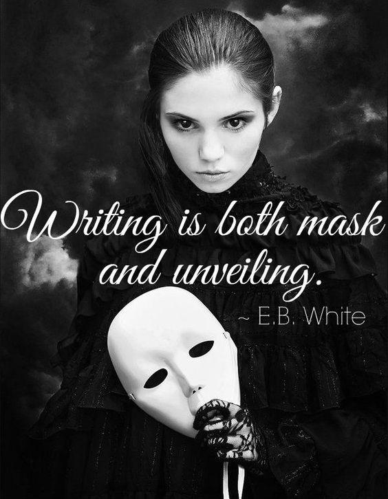 Writing is both mask and unveiling Picture Quote #1