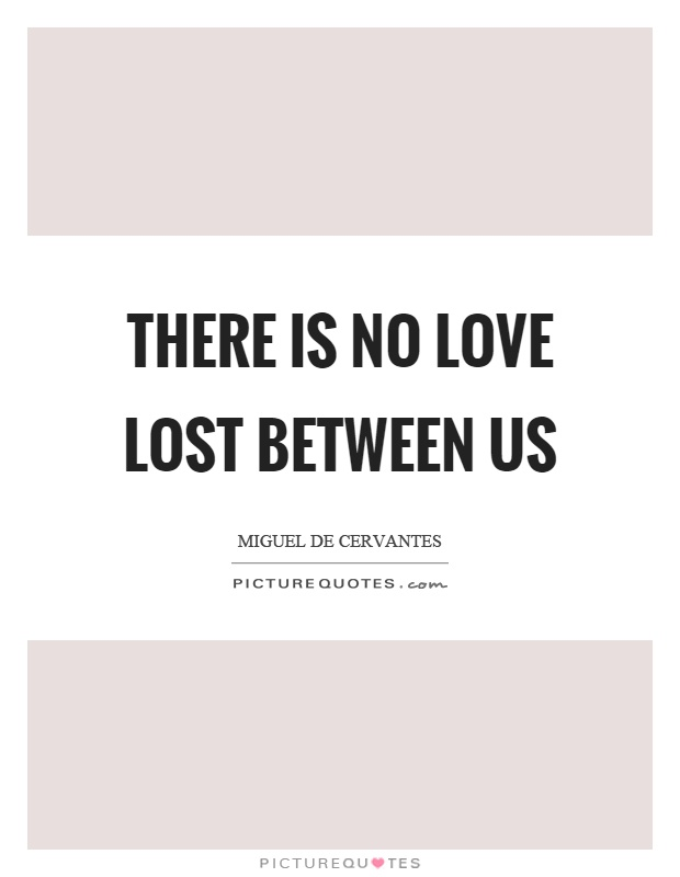 There is no love lost between us Picture Quote #1
