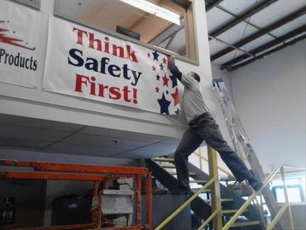 Think safety first Picture Quote #1