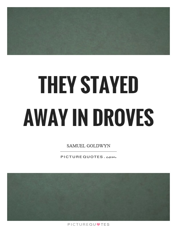 They stayed away in droves Picture Quote #1