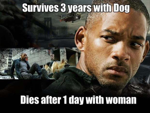 Survives 3 years with dog. Dies after 1 day with woman Picture Quote #1