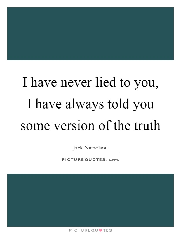 U lied quotes