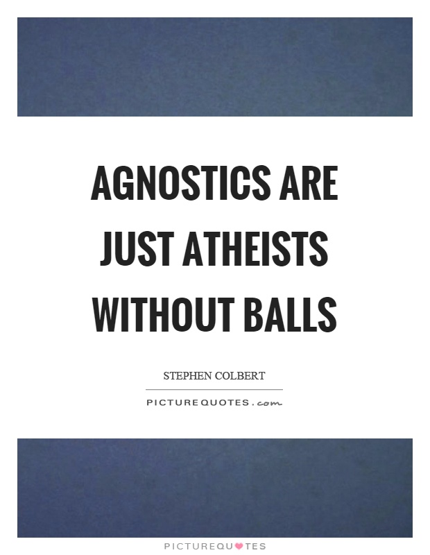 Agnostics are just atheists without balls Picture Quote #1