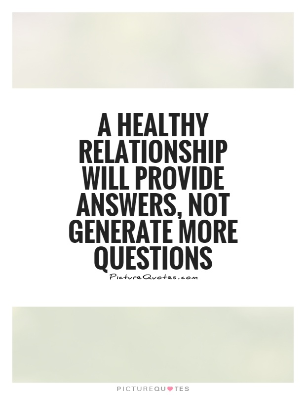 not healthy relationship