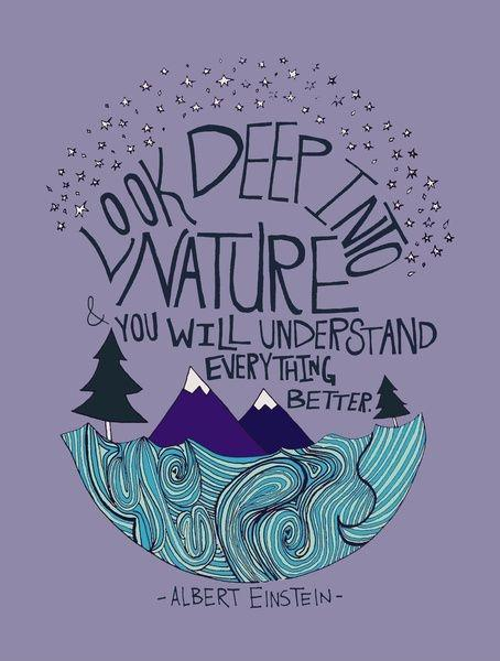 Look deep into nature, and then you will understand everything better Picture Quote #2