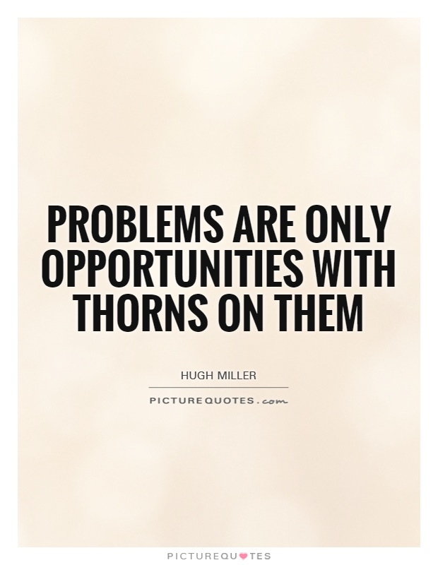 Problems are only opportunities with thorns on them Picture Quote #1