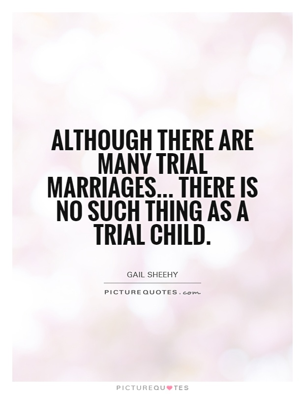 What is trial marriage