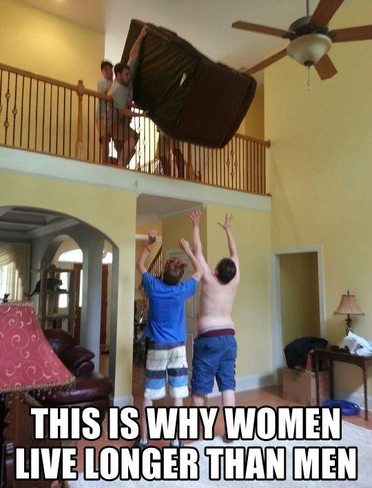 This is why women live longer than men Picture Quote #1