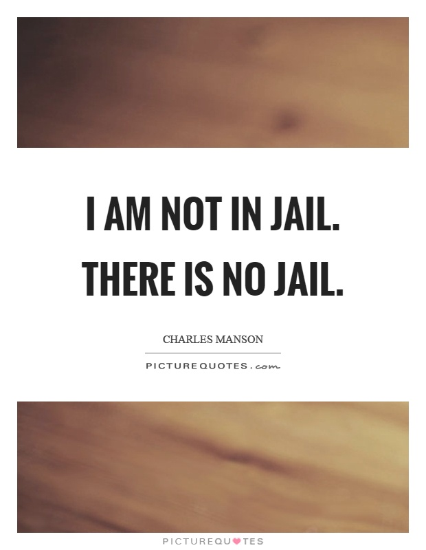I am not in jail. There is no jail Picture Quote #1