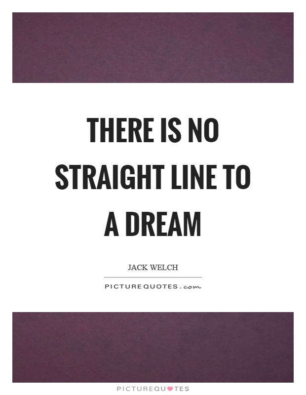 There is no straight line to a dream Picture Quote #1