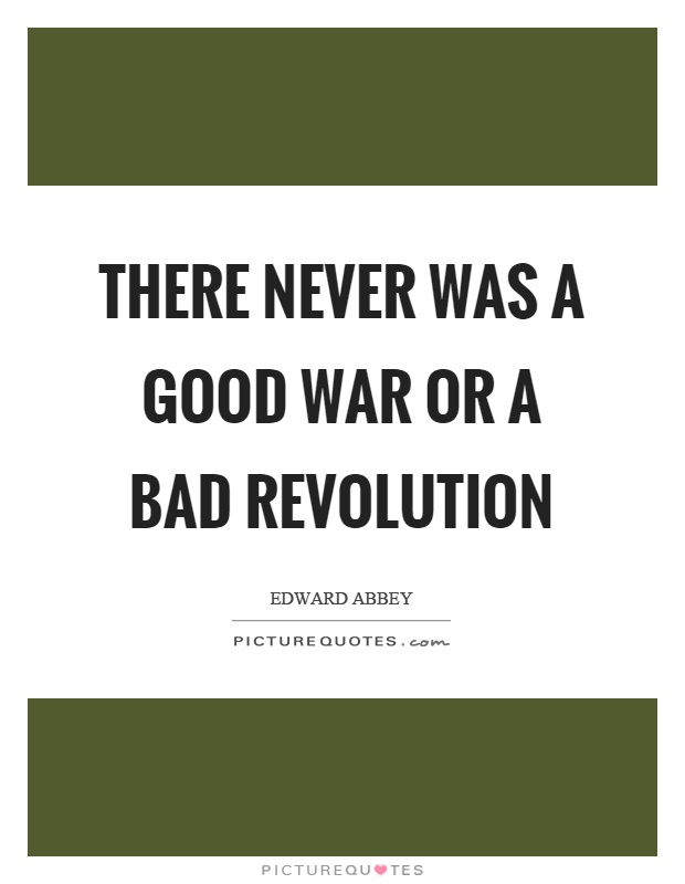 Do you think War is a good or bad thing?