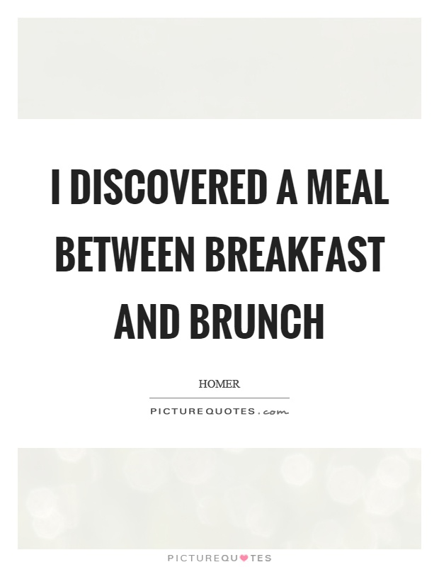 I Discovered A Meal Between Breakfast And Brunch Picture