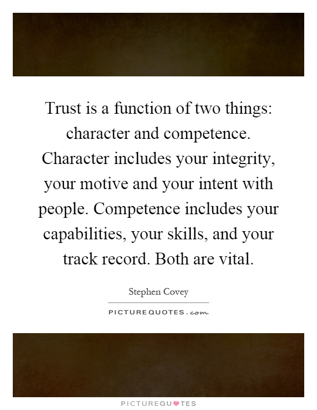 What does Integrity mean in your eyes?