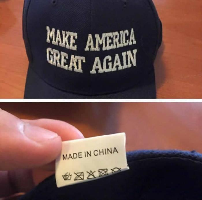 Make America great again. Made in China Picture Quote #1